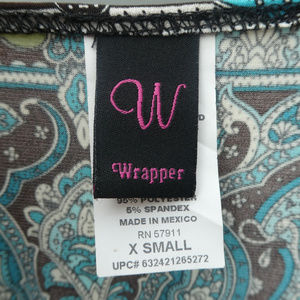 Wrapper Tops - Colorful Flowing Blouse w/Belt